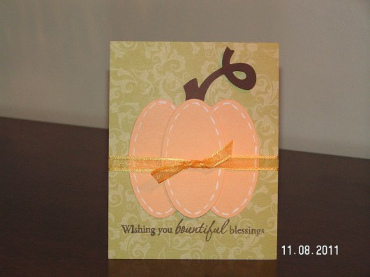 Thanksgiving Pumpkin Card - Wild Card